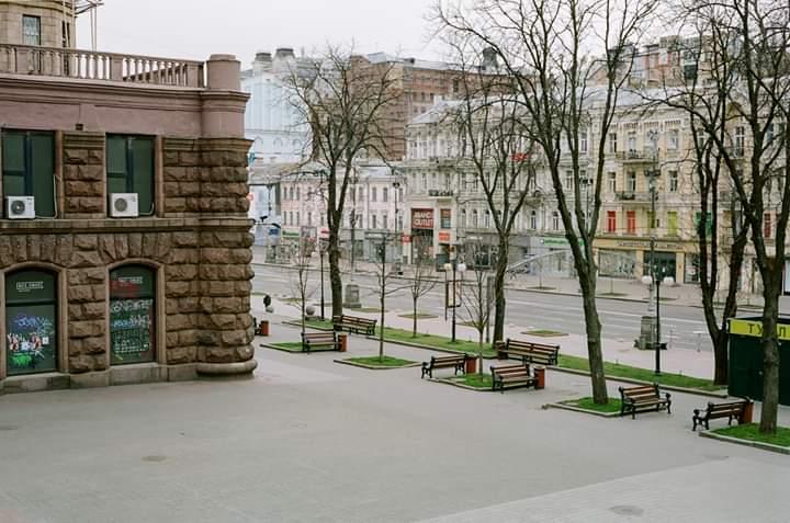 Опустевший во время карантина Киев (фоторепортаж)