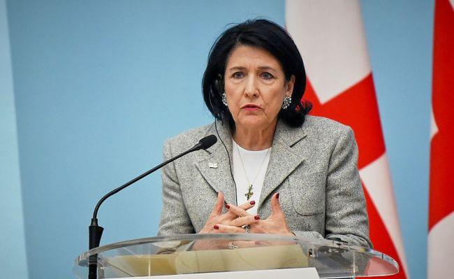 Президент Грузии  выступила против назначения Саакашвили в Кабмин