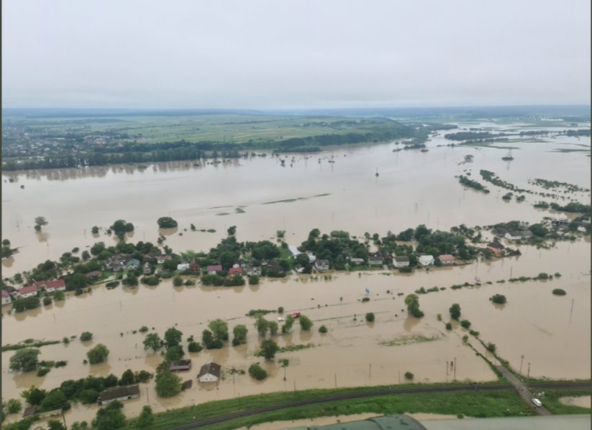 В МВД показали масштабы затопления на западе Украины