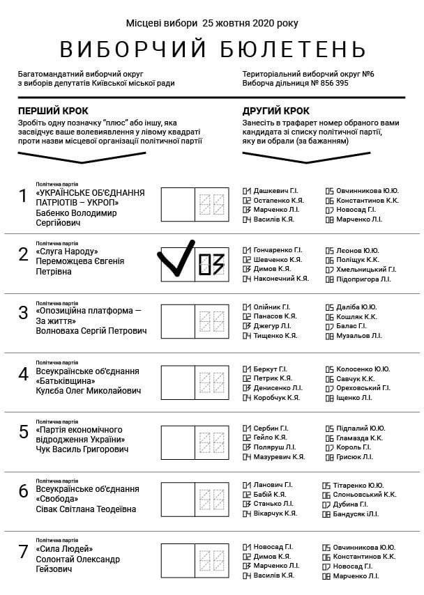 В Верховной Раде показали обновленный бюллетень с открытыми списками