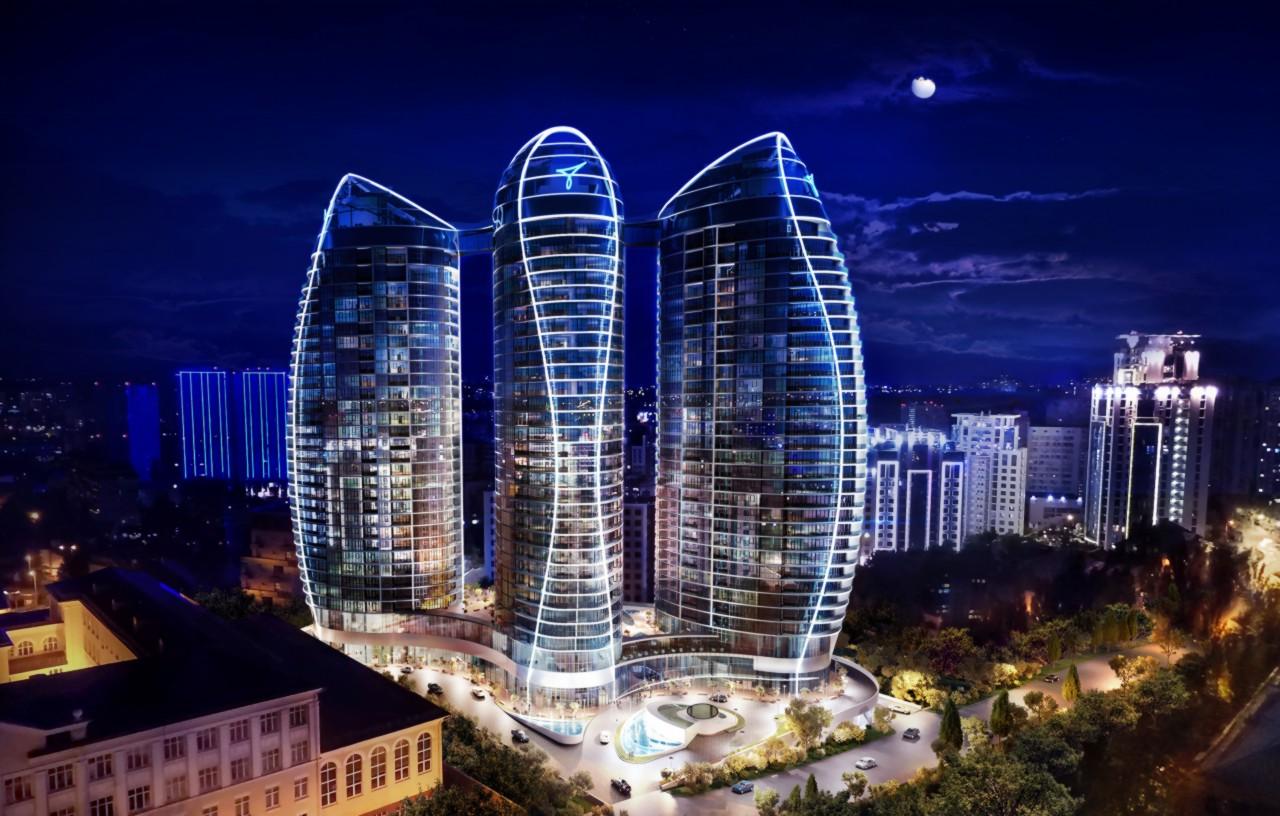 В Киеве горел элитный жилой комплекс Taryan Towers: подробности