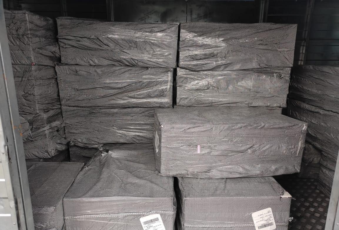 В аэропорту Борисполь обнаружили две тонны контрабандных сигарет