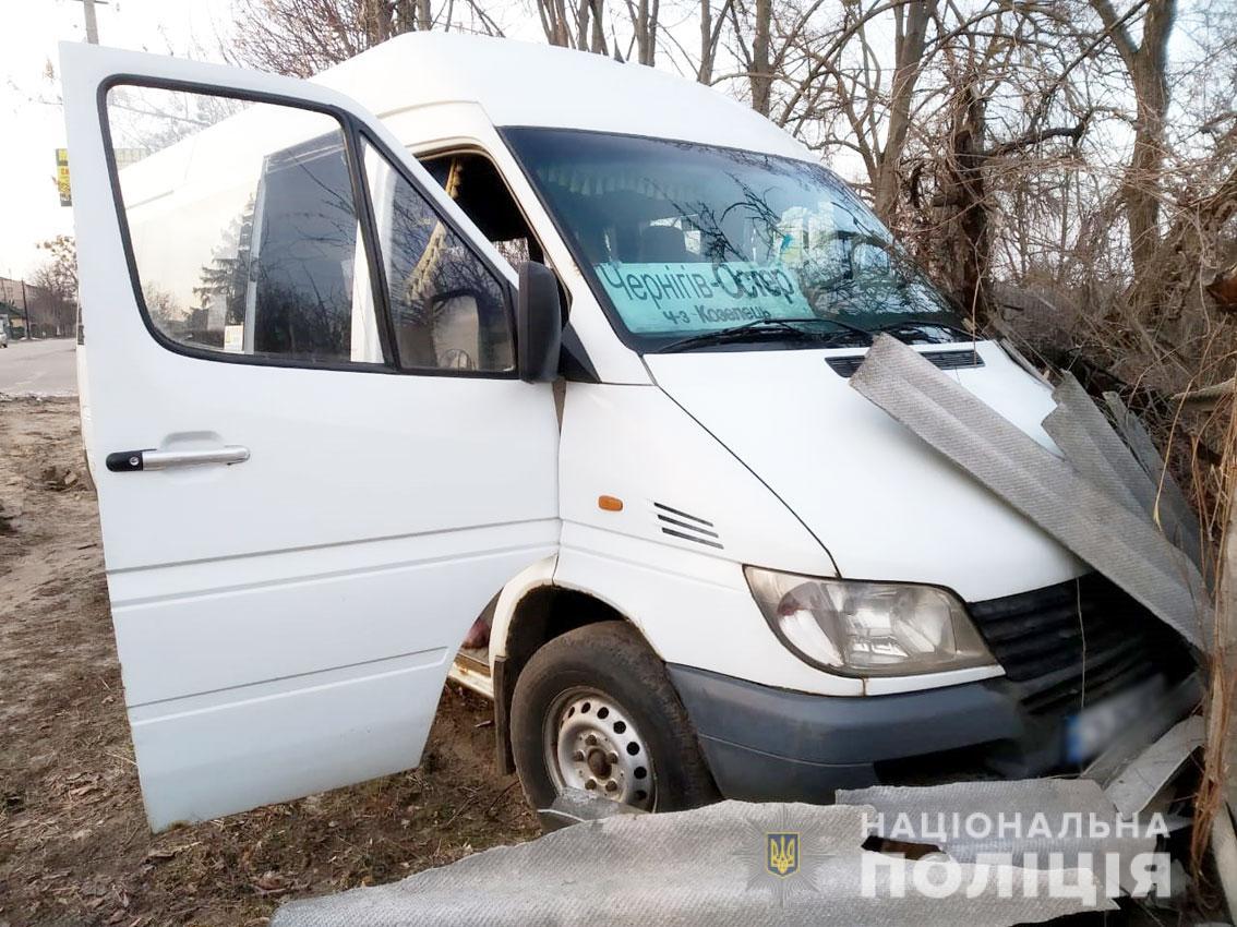 Под Черниговом водитель маршрутки умер за рулем во время рейса