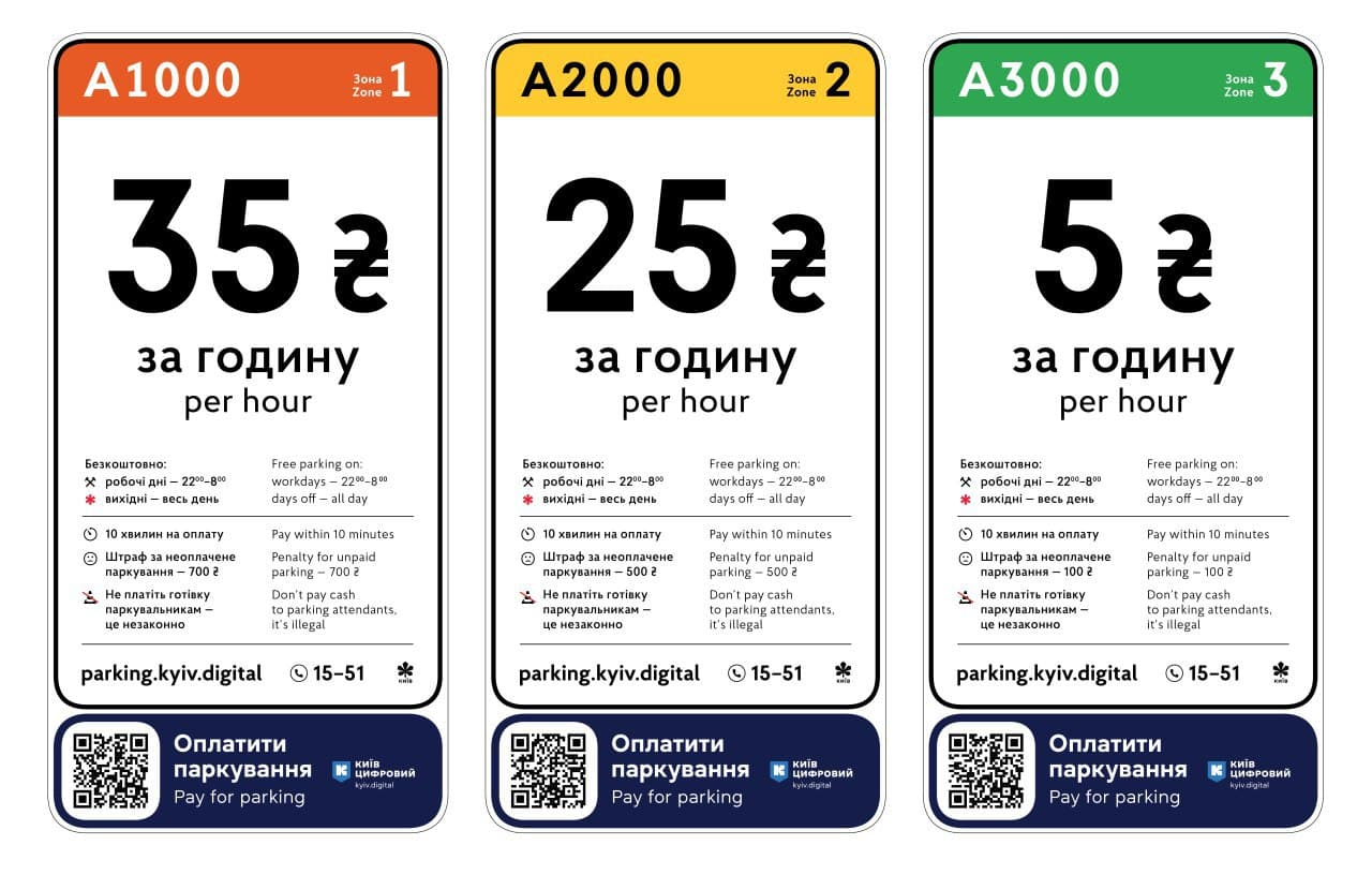 В центре Киева повысили стоимость парковки